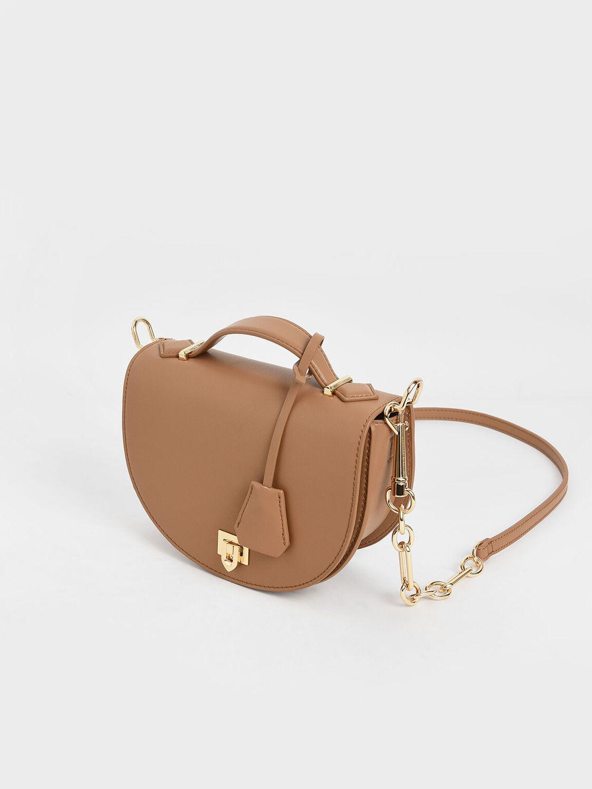 Top Handle Saddle Bag, Nude, hi-res