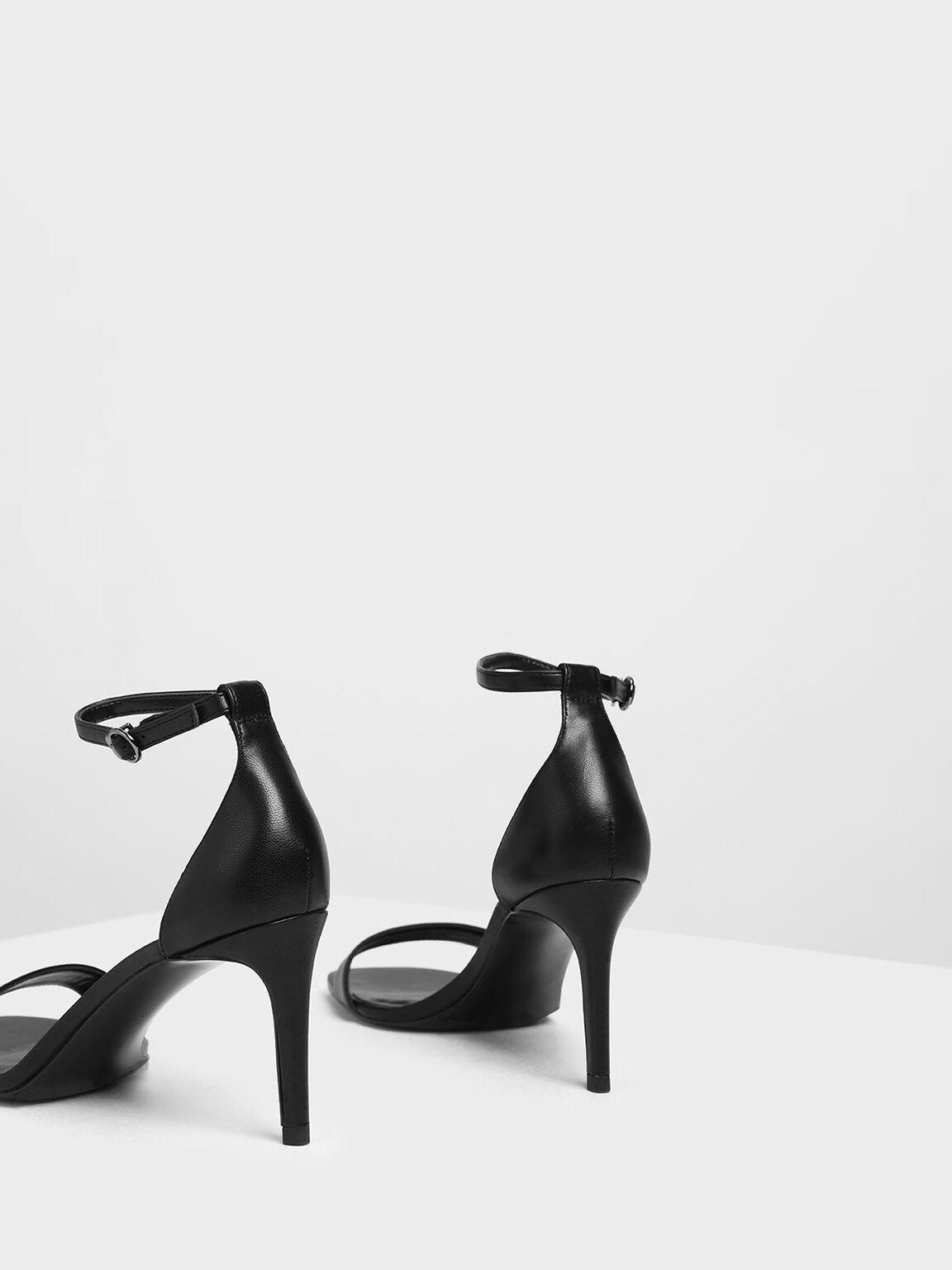 Classic Ankle Strap Heels, Black, hi-res