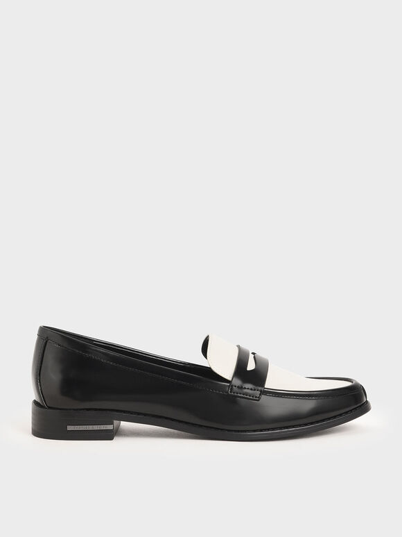 Penny Loafers, Black, hi-res