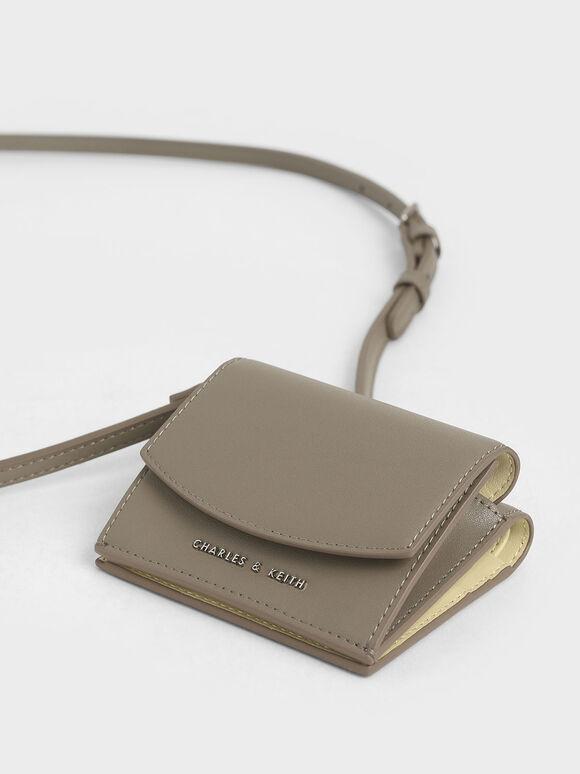 Mini Short Wallet, Grey, hi-res