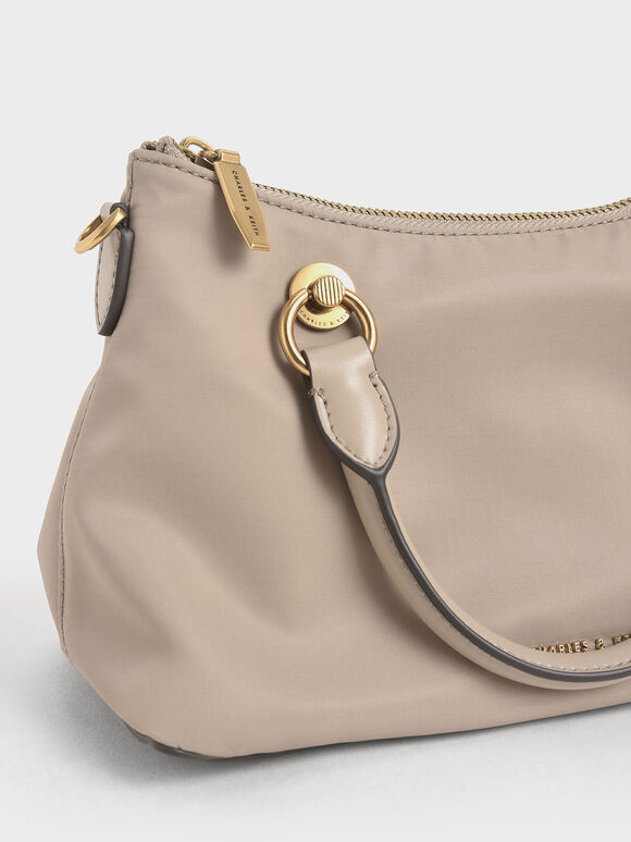 Double Handle Shoulder Bag, Sand, hi-res