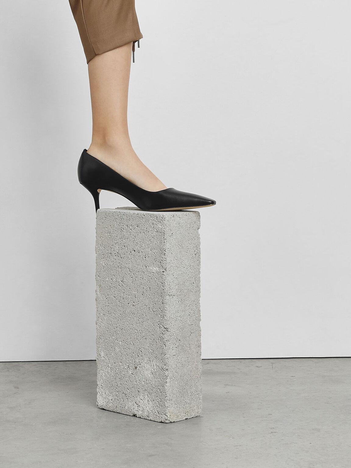 D'Orsay Heels, Black, hi-res