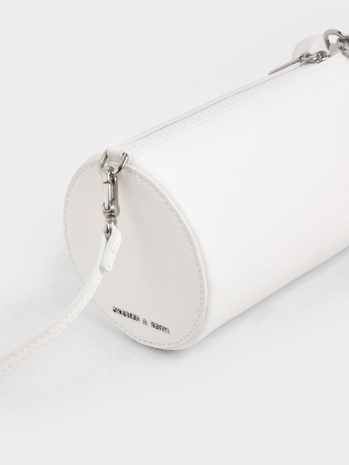 'Rat Zodiac' Cylindrical Bag, White, hi-res
