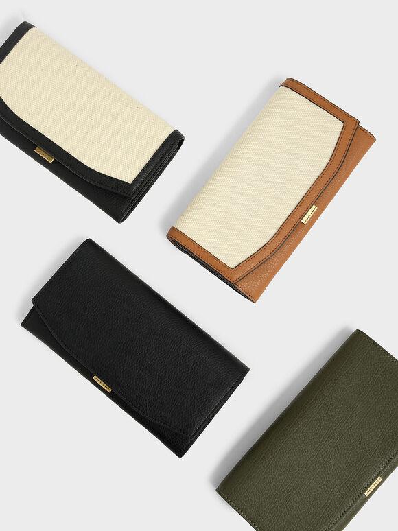 Mini Long Wallet, Black, hi-res