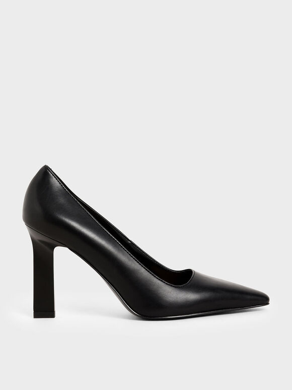 Blade Heel Pumps, Black, hi-res