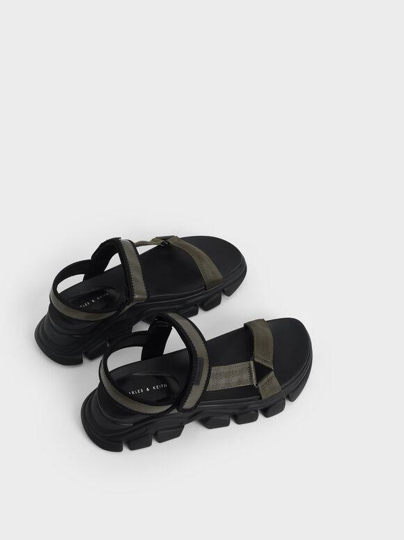 Dash Chunky Sandals, Military Green, hi-res