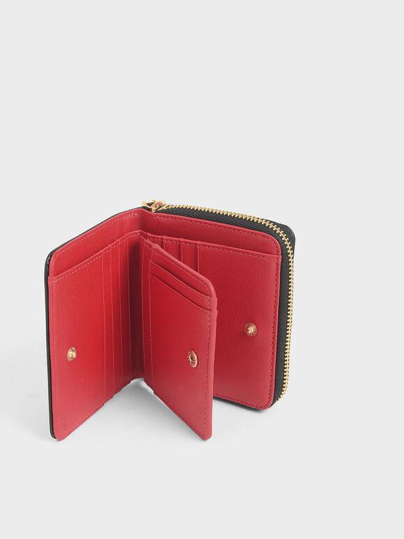 Small Zip-Around Wallet, Black, hi-res