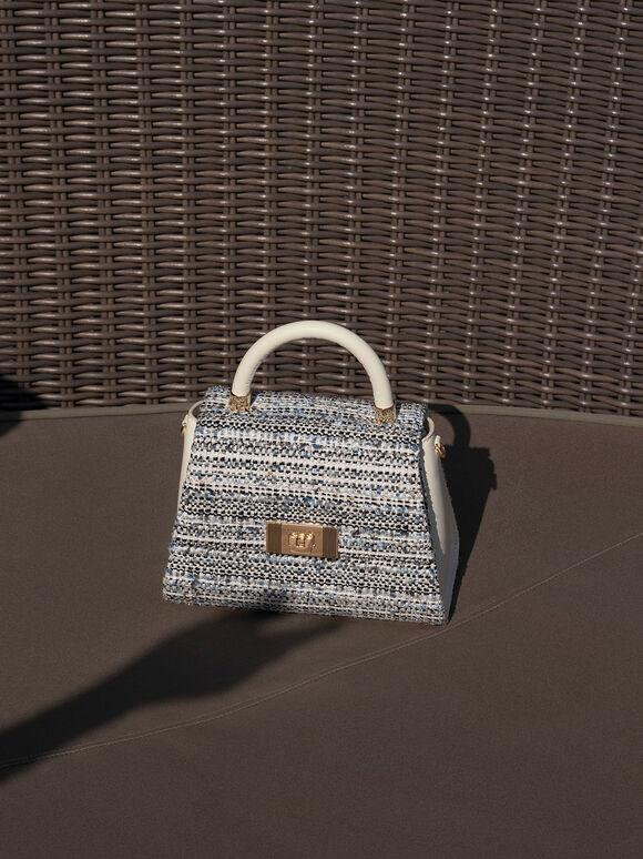 Marise Tweed Trapeze Bag, Multi, hi-res