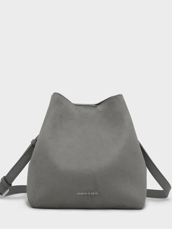 Slouchy Sling Bag, Grey, hi-res