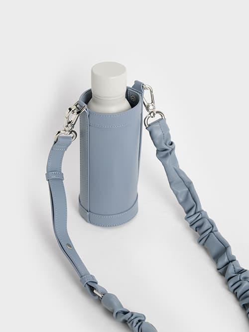 Riley Ruched Strap Bottle Holder, Blue