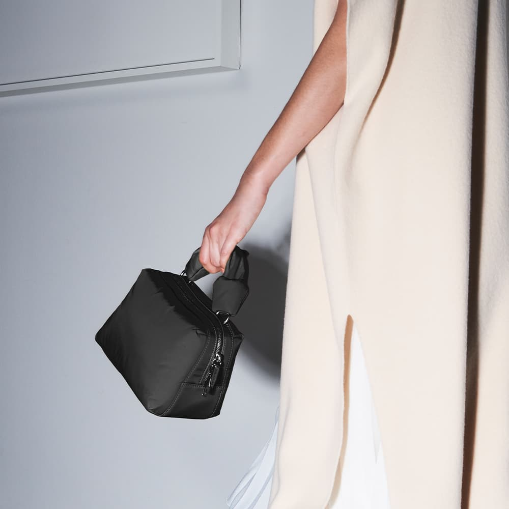 Women's knotted boxy bag in black - CHARLES & KEITH