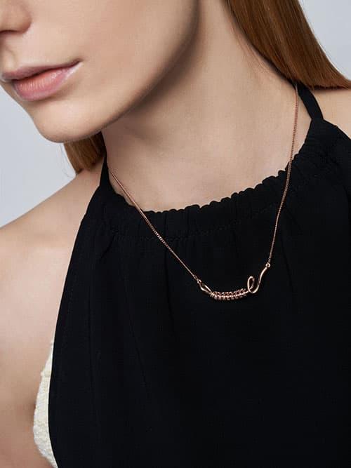 Twist Princess Necklace, Rose Gold