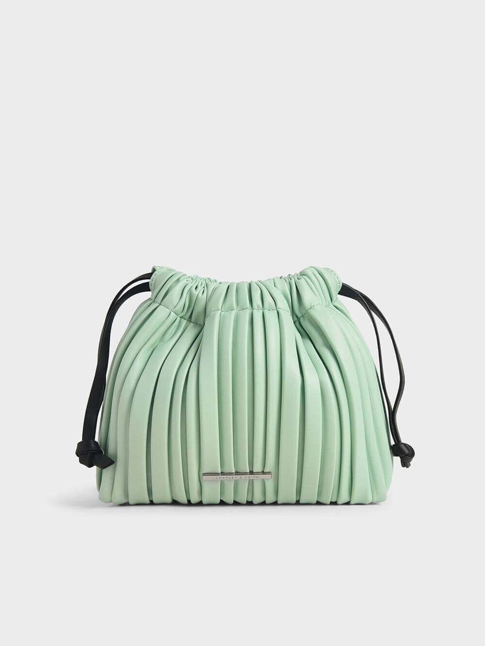 Pleated Drawstring Bag