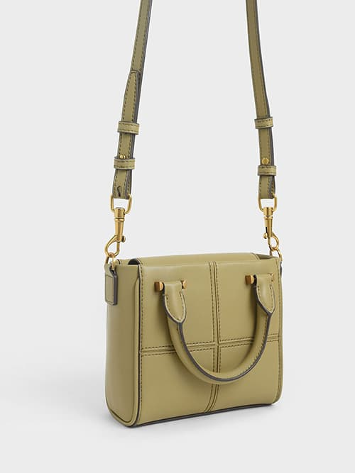 TEXTURED PANELLED BAG