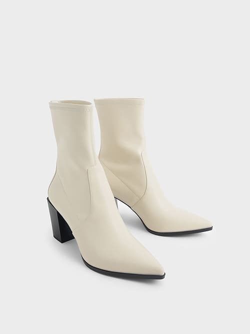 STACKED HEEL ANKLE BOOTS