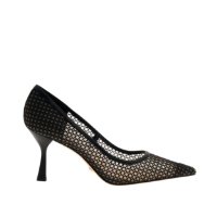 LEATHER MESH PUMPS