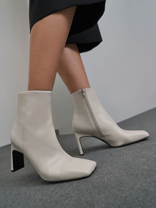 Blade Heel Ankle Boots