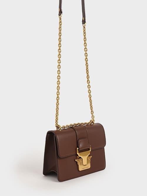 PUSH-LOCK SHOULDER BAG