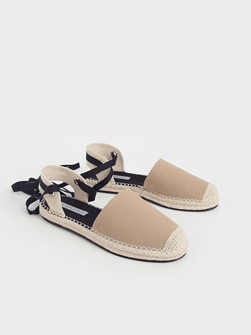 TIE-AROUND ESPADRILLE FLATS