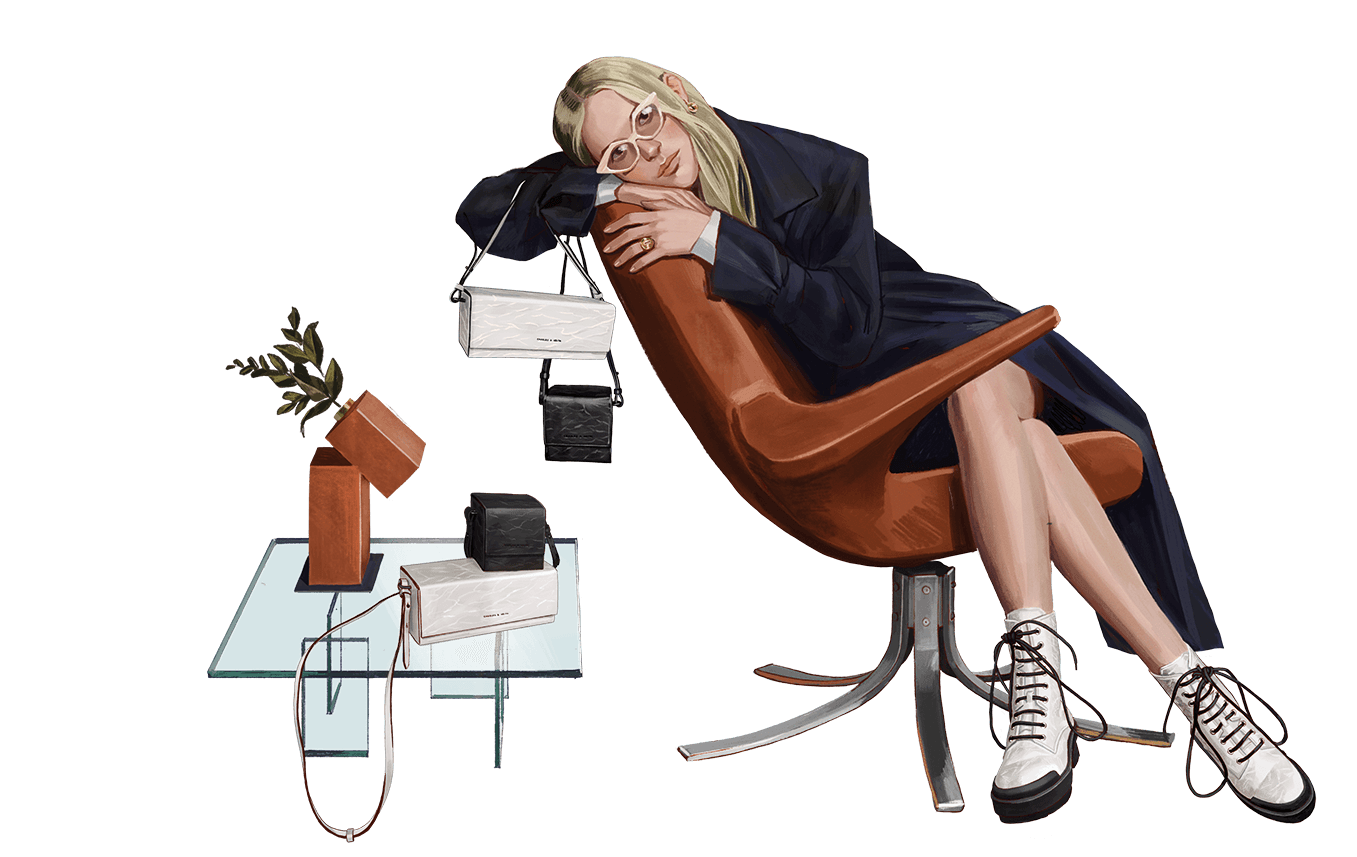 A compilation of illustrations from the CHARLES & KEITH Autumn Winter 2020 campaign - CHARLES & KEITH - Web - Model 4