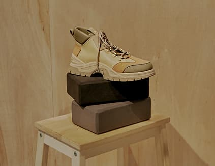 Women's textured high top sneakers in beige  – CHARLES & KEITH