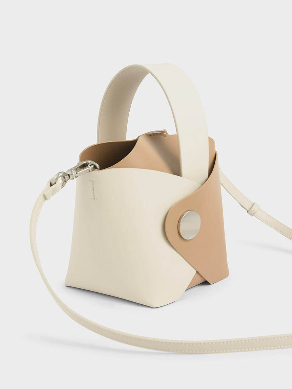 Two-Tone Mini Bucket Bag