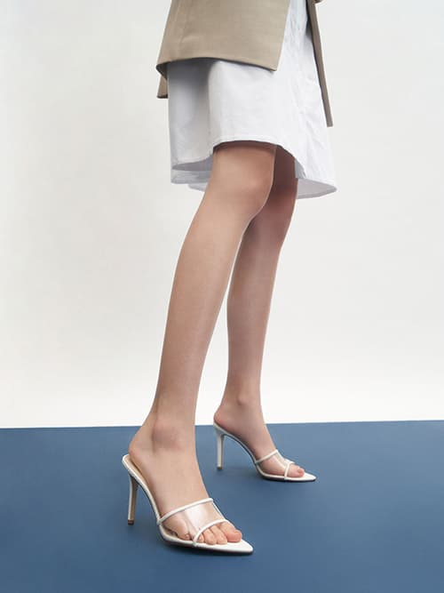 CLEAR STRAP MULES