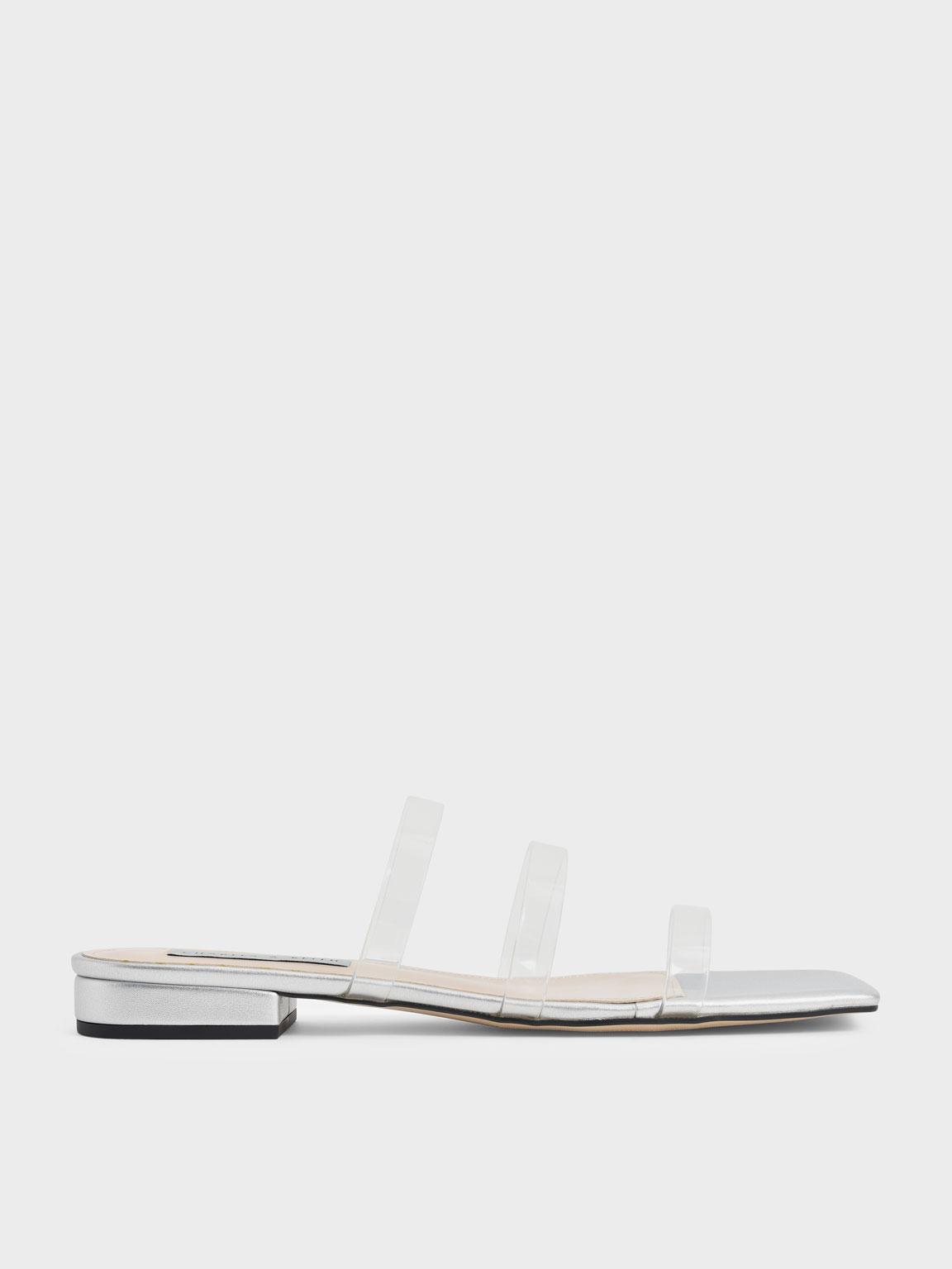 Clear Strap Slide Sandals