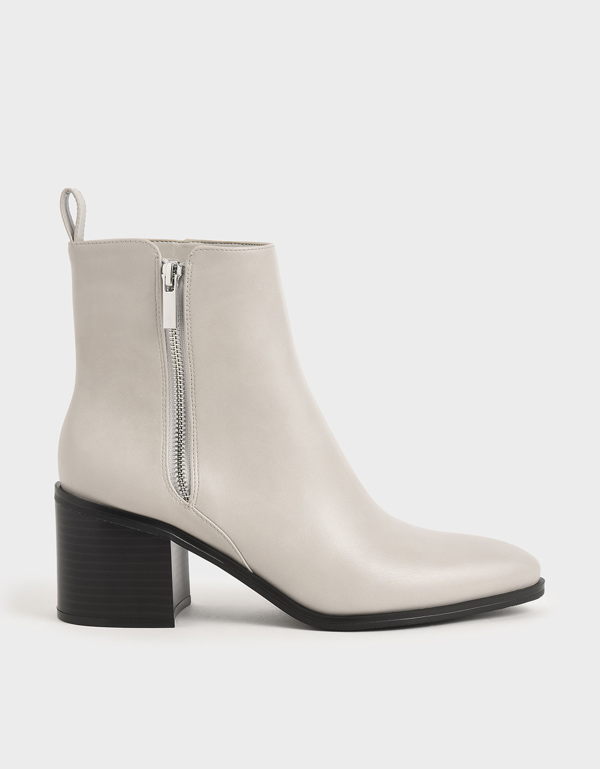 Side Zip Heeled Ankle Boots