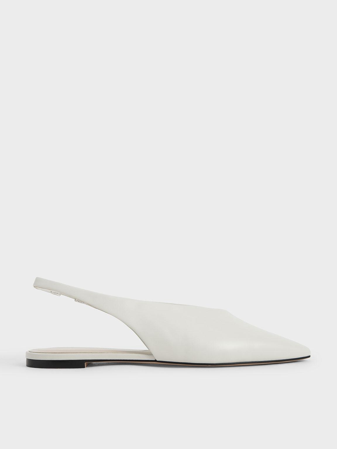 Pointed Toe Slingback Ballerinas
